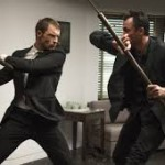 """Frank Martin (Ed Skrein) takes on a bad guy in """"The Transporter: Refueled"""""""